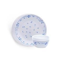 Corelle Vitrelle Glass White Dinner Set - Set Of 8
