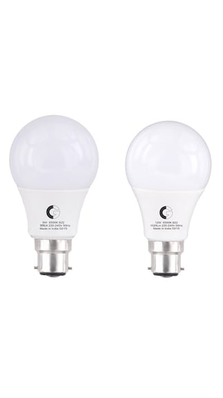 9W-And-12W-LED-Bulbs-(White,-Pack-Of-2)