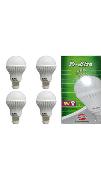 D-Lite-5W-White-LED-Bulbs-(Pack-Of-4)