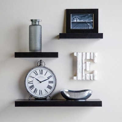 DecorNation Set Of 3 Floating Wall Shelves Racks