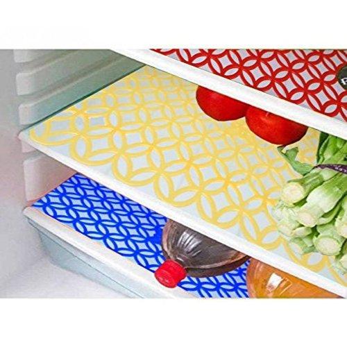 Delfe Set of 6 PVC Fridge Mats (Multicolor)