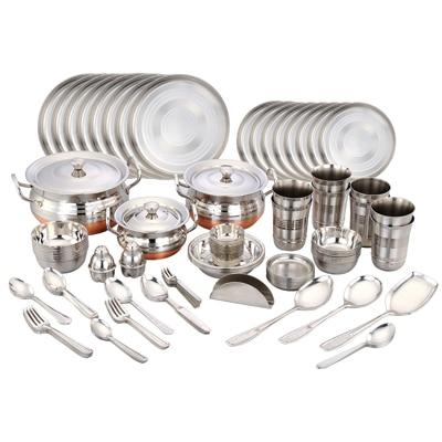 Steel ware flat 30 cashback for Kitchen set bartan