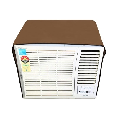 Dream Care Beige Colored Waterproof and Dustproof Window AC Cover for Hitachi 1.5 Ton 5 star AC RAW518KUD Kaze Plus
