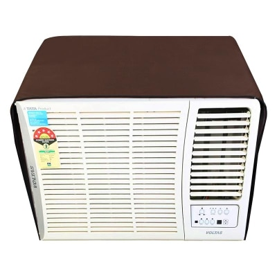 Dream Care Coffee Colored Waterproof and Dustproof Window AC Cover for Hitachi 1.5 Ton 5 star AC RAW518KUD Kaze Plus