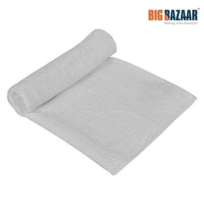 Easy Life Plain Dyed Cotton Bath Towel (White)
