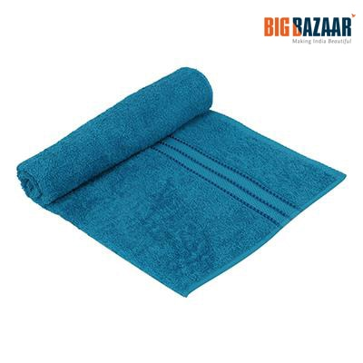 Easy Life Plain Dyed Cotton Bath Towel (Sea Blue)