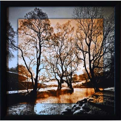 eCraftindia Scenary View Satin Matte Texture Framed Painting