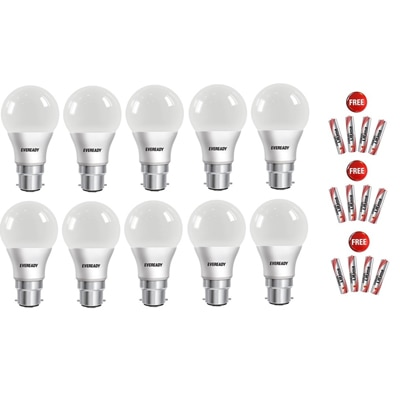 Eveready 7 W Led Bulb With Free Battery -Set Of 10