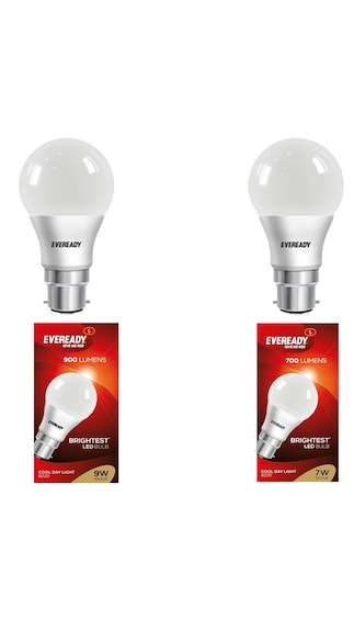 7W-And-9W-LED-Bulb-(Cool-Day-Light,-Pack-Of-2)-With-4-Pc-AAA-Battery-Combo