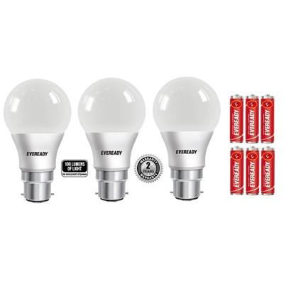 Eveready 9 Watt LED Bulb-Pack Of 3