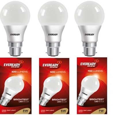 Eveready LED Bulb (3W, 5W, 7W) Combo
