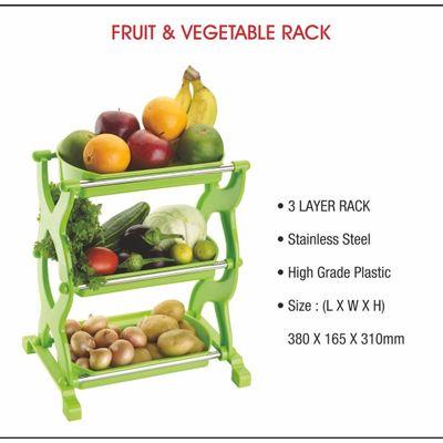 Fortune Fruit & Vegetable Basket (Multipurpose Rack/Stand) - 3 Layer