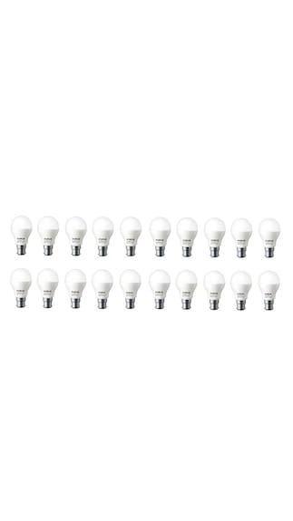 7W B22D LED Bulb (White, Pack Of 20)