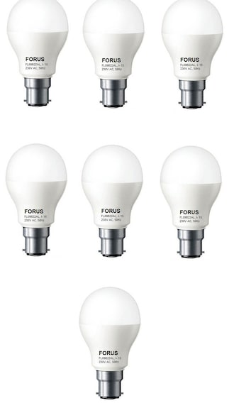 9W B22D LED Bulb (White, Pack Of 7)