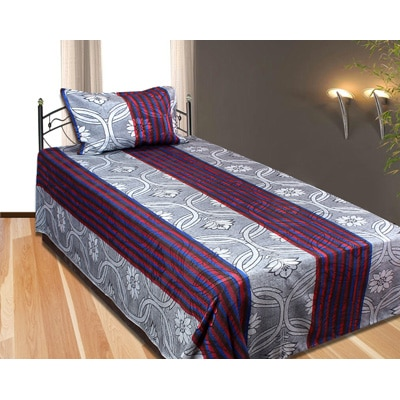 Fresh From Loom Multicolor Polyester Single Bedsheet With 1 Pillow...