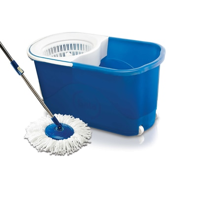 Gala Spin mop with easy wheels and bucket for magic 360 degree cleaning (with 2 refills) Rs.999