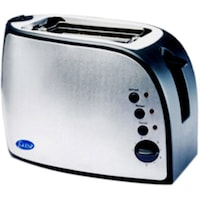 Glen GL 3018 2 Slice Pop Up Toaster (Silver & Black)