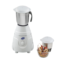 Glen GL 4021 550 W Mixer Grinder (White/2 Jar)