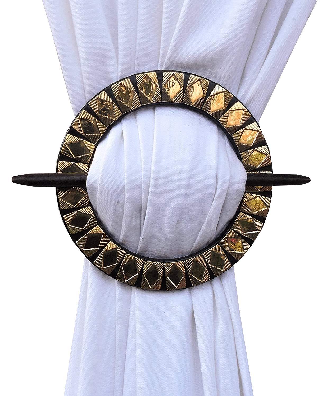 H & W Brass Tie-backs Gold