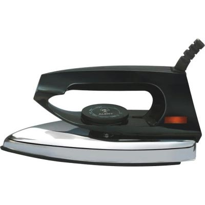 HAPPY HOME Regular 750 W Dry Iron (Black)