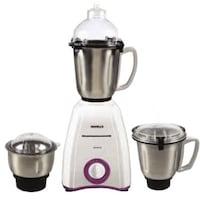 Havells Momenta 750 Watt 3 Jar Mixer Grinder (White & Purple)