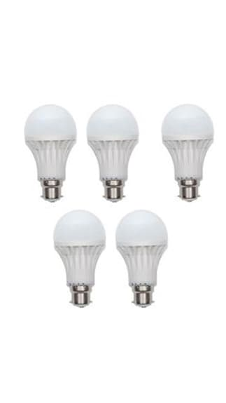 Gold-9W-LED-Bulb(White,-Pack-Of-5)-