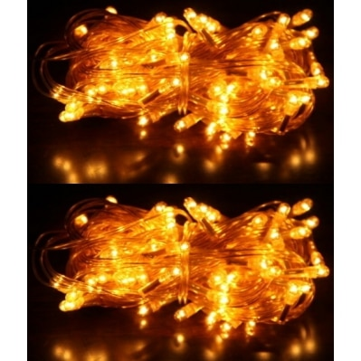 Home Delight 4 meter Golden Festive Decorative Diwali Light, Pack...