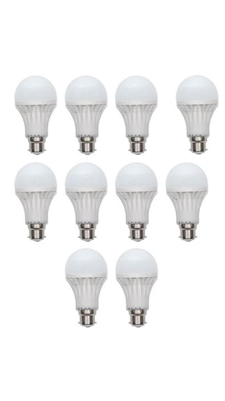 Lighting-PVC-9-W-LED-Bulb-B22-(Whte,-Pack-Of-10)