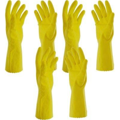 HouseHold Cleaning HandGloves Washing Gloves Rubber Hand gloves Hand Care Glove (3 PAIR )