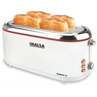 Inalsa Radiant 4S 4 Slice Pop Up Toaster (White)