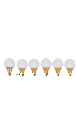 6W-E27-Aluminium-LED-Bulb-(Cool-Daylight,-Pack-Of-6)