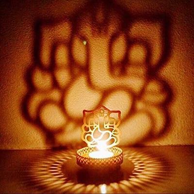 Jaz Deals Shadow Ganesh Ji Tea Light Holder