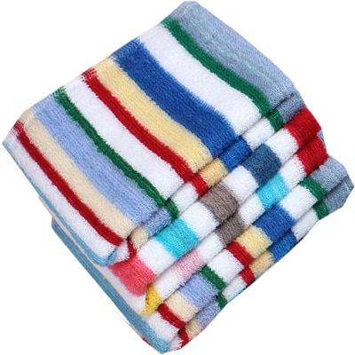 Terry Face Towel - Set Of 12 (Assorted Color & Designed)