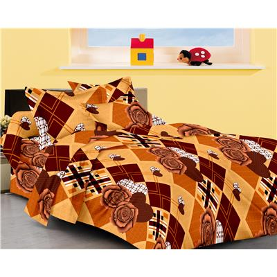 JBG Home Store 100% Cotton Double bedsheet with 2 Pillow Covers