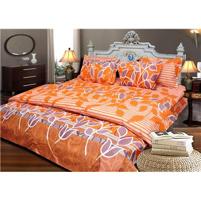 JBG Home Store Cotton Floral Design Double Bedsheet With 2 Pillow Cover