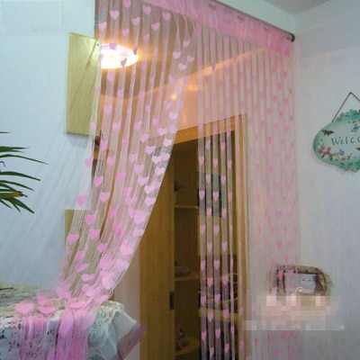 JBG Home Store Pink Polyester Door Curtain (7 Ft) -...