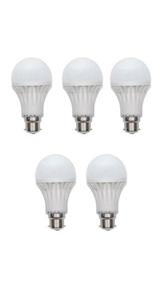 3W-Plastic-White-LED-Bulb-(Pack-Of-5)-