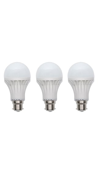 Jmt-Plus-3W-Plastic-White-LED-Bulb-(Pack-Of-3)