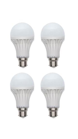 3W-Plastic-White-LED-Bulb-(Pack-Of-4)-