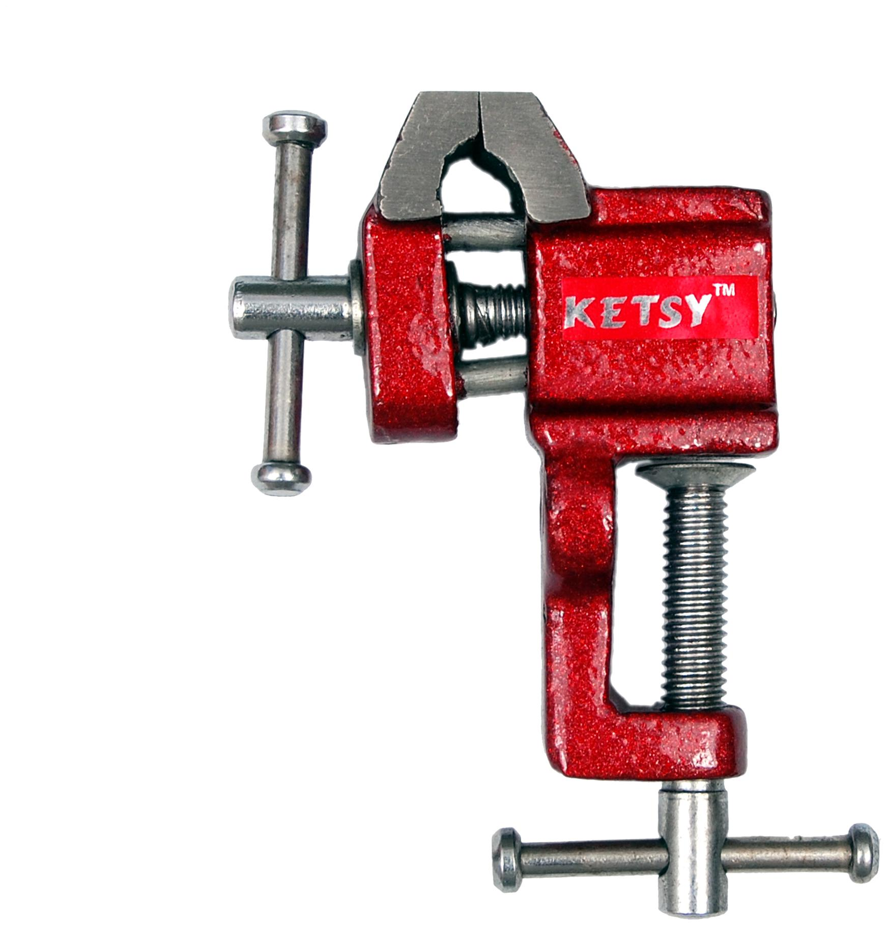 KETSY 842 Red Iron Cast Baby Vice 25 mm With clamp