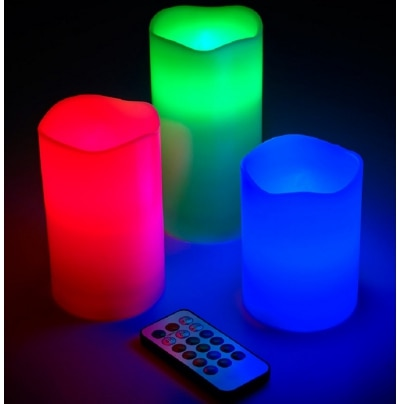 Kykit Decorative Flameless Home Decor Lights Remote Operated Candles for...