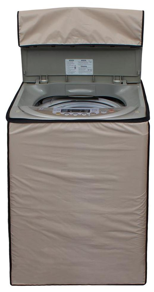 Lithara Beige Colored Washing Machine Cover for Fully Automatic (Top load) 7 to 7.5kg