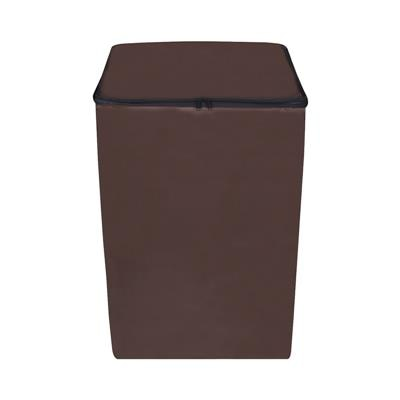 Lithara Coffee Colored Washing Machine Cover for Fully Automatic (Top load) 7 to 7.5kg