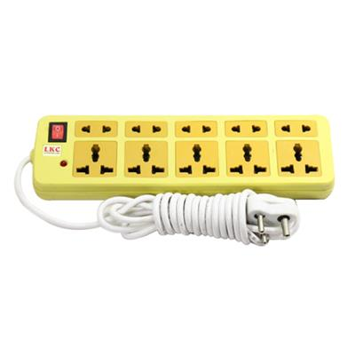 LKC Plastic Extension Cord Board 10 Socket 2.5 Mtr -...