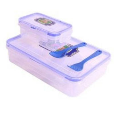 Lock N Lock Transparent Kids Lunch Box 500ml with Spoon...