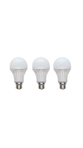 Gold-15W-Plastic-Body-LED-Bulb-(White,-Pack-of-3)-