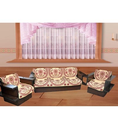 Madhav Product Blackberry Sofa Cover (Set Of 10)