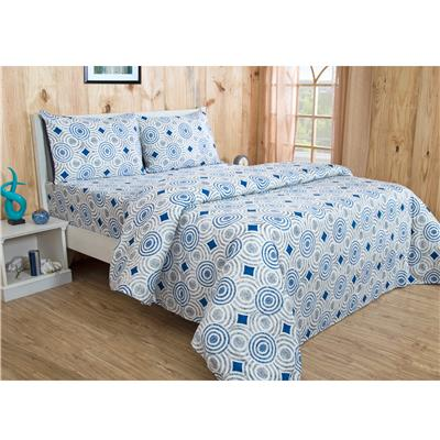 Maspar Astounding Ace Admire Blue 1 PC Single Bed Sheet With 1 Pillow cover