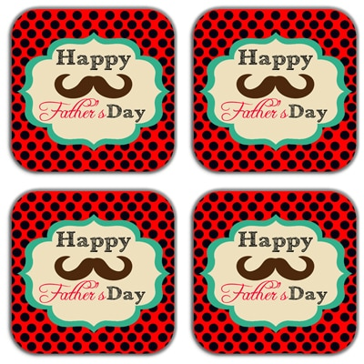 meSleep Fathers Day Coasters (Set of 4)