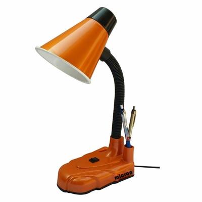 Micron Orange Round Head Study Lamp With Free 5 Watt LED Bulb